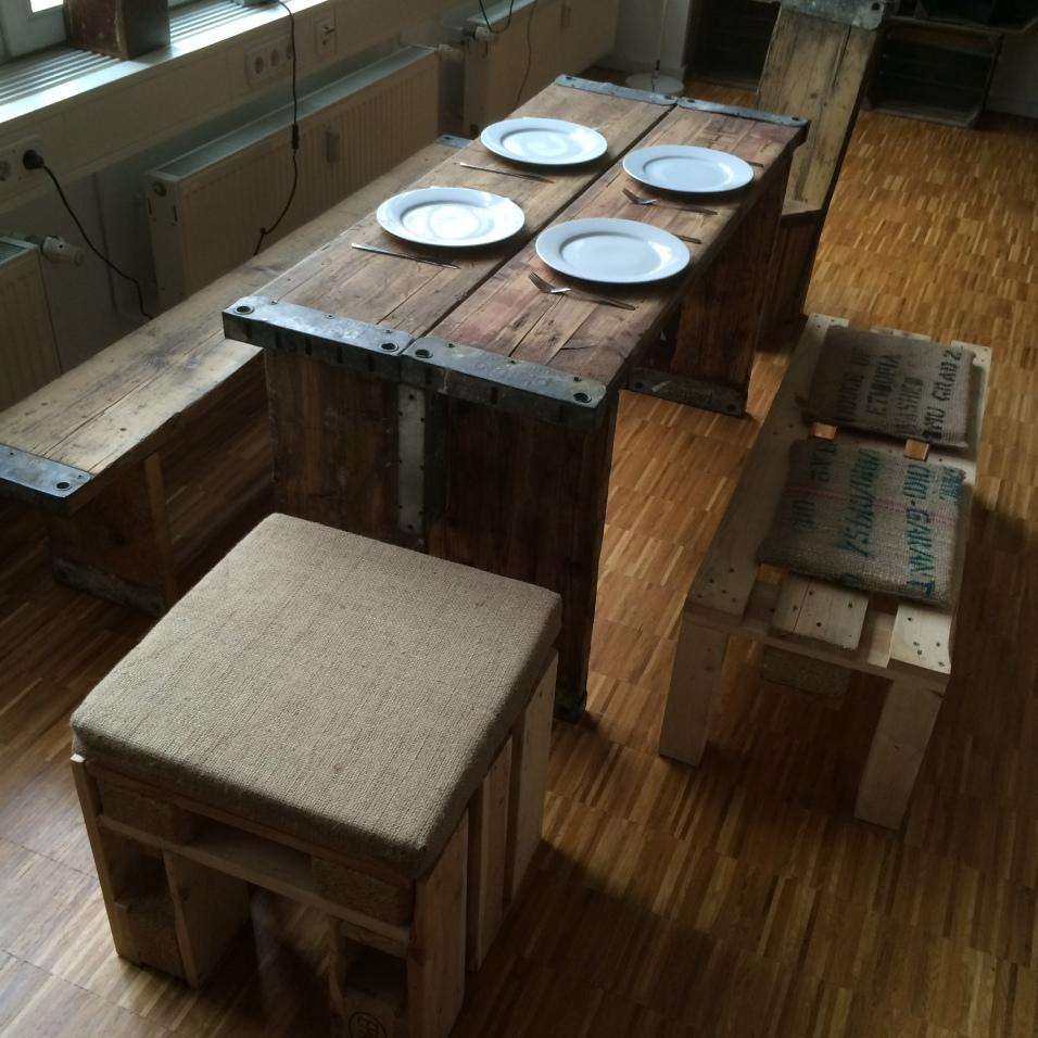 Bohlenmöbel im Industrial Style  DIY, Vintage & Upcycling